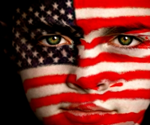 American Flag Face