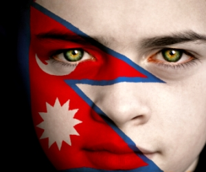 Tibet Flag Face