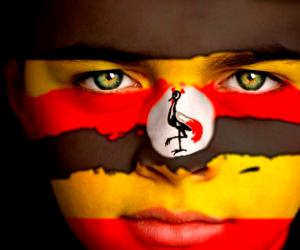 Ugandan Flag Face