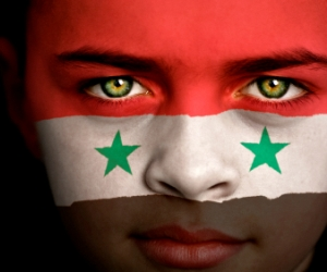 Syrian Flag Face